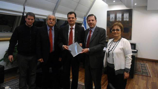 Da sinistra: Ariel Pasini, Rafael Folonier, Fabio Porta, Eduardo Zuain, M. Rosa Arona.