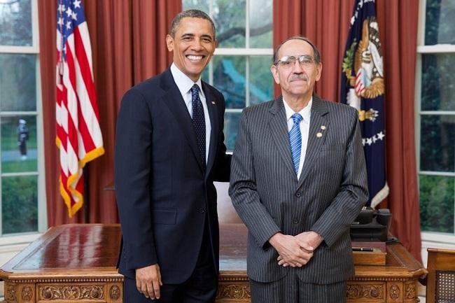 Il Presidente Obama riceve Ruben Zamora, nuovo Ambasciatore di El Salvador negli USA.