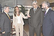 Madrid, 2007. incontro tra i sottosegretari spagnolo, trini jimenez, portoghese, braga, ed italiano, di santo, con il vice ministro degli esteri venezuelano, rodrigo chaves.